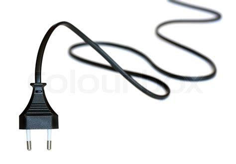 electric with black cable on white background