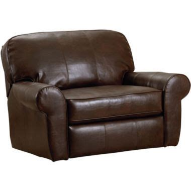 jc penney recliner madison bonded leather snuggler recliner found at