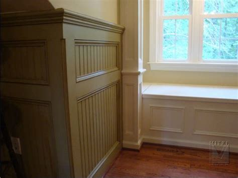 Wainscoting Outside Corner mitre contracting inc renovation