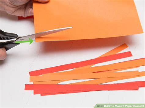 How To Make A Paper Bracelet - 3 ways to make a paper bracelet wikihow