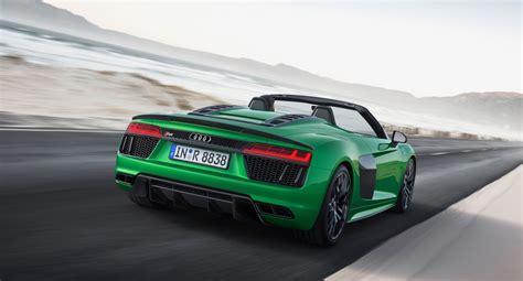 audi r8 v10 plus horsepower 2018 audi r8 spyder v10 plus arrives with 610 horsepower