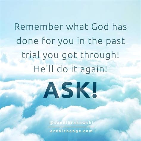 Because We Asked by We Not Because We Ask Not God Is Always Faithful
