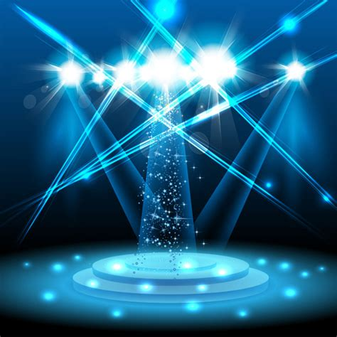 web design effect stage with spotlight effect design vector free vector in