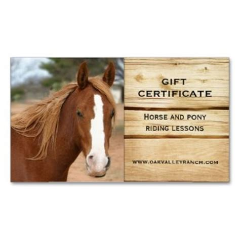 printable gift certificates with horses gift certificates gift vouchers and templates in business