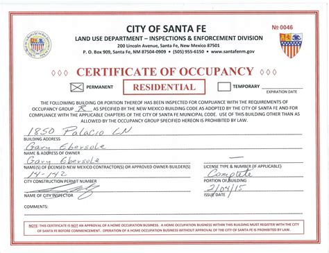 unique collection of certificate of occupancy nyc