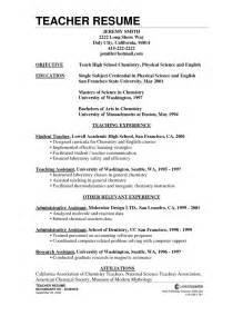 Chemistry Teacher Resume Format Resume Format