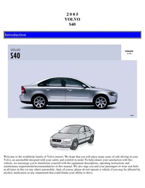 download car manuals 2010 volvo s40 auto manual download 2005 volvo s40 owner s manual pdf 127 pages