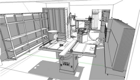 workshop layout sketchup shop layout using sketchup and the 3d warehouse