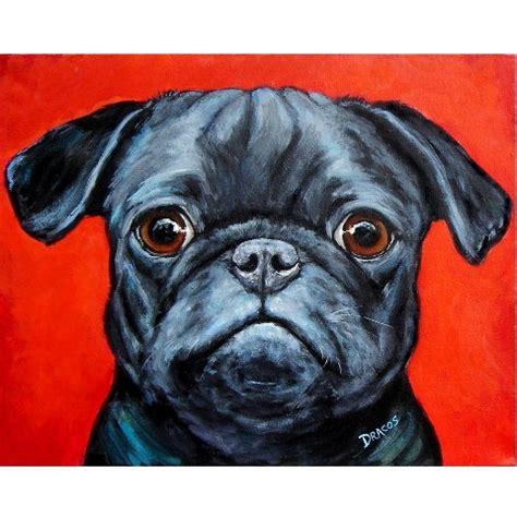 pug painting pug print of original acrylic painting pug on