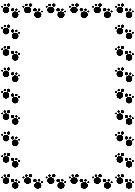 Paw Print Page Border Clip by Paw Print Clip Border Clipart Best