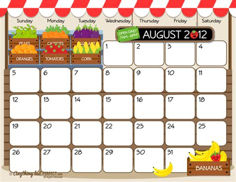 august 2012 calendar template butterfly kisses of free printable august 2012 calendar