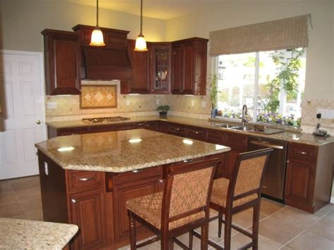 new kitchen cabinets and countertops arthur s kitchen new kitchen classy cherry wood cabinets