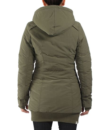 bench parka womens bench razzer ii hooded parka jacket in brown lyst