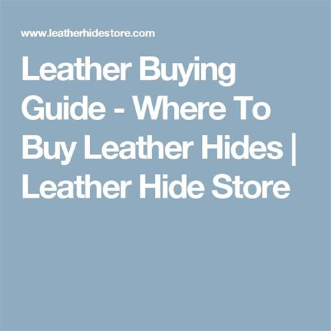 Buy Leather Hides 1000 Ideas About Leather Hides On Leather