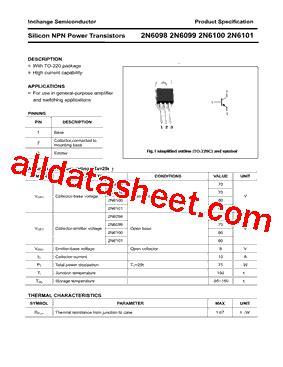 transistor company 2n6099 datasheet pdf inchange semiconductor company limited