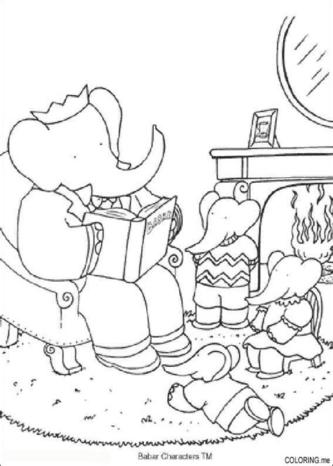 Coloring Page Babar Pom Flore And Arthur Coloring Me Pom Pom Coloring Pages