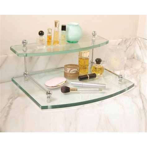 Bathroom Tray Organizer by Two Tiered Vanity Storage Tray In Cosmetic Organizers