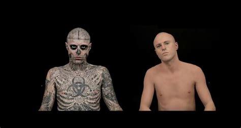 zombie boy before so sah rick genest ohne tattoos aus