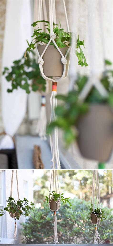 Window Plant Hanger - diy macrame plant hangers to craft in your spare time