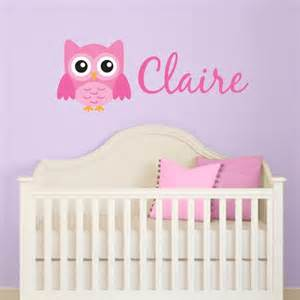 personalized wall stickers personalized girl owl wall decal wall decal world