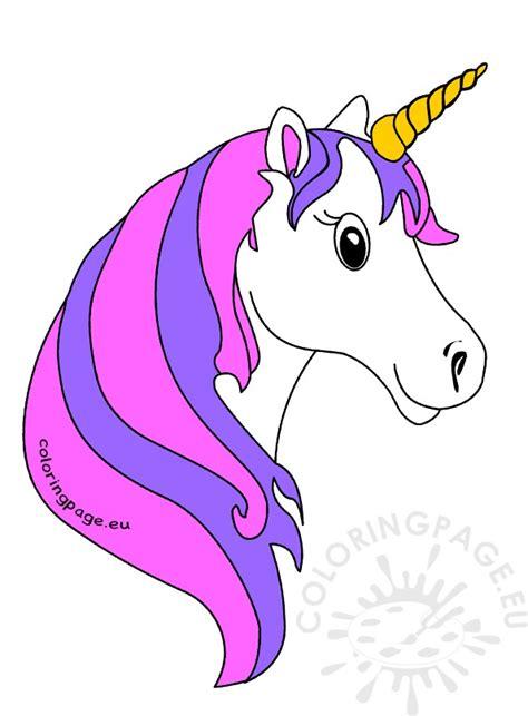 unicorn face clipart clipartxtras