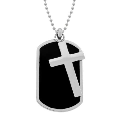 tag cross necklace cross tag necklace findgift