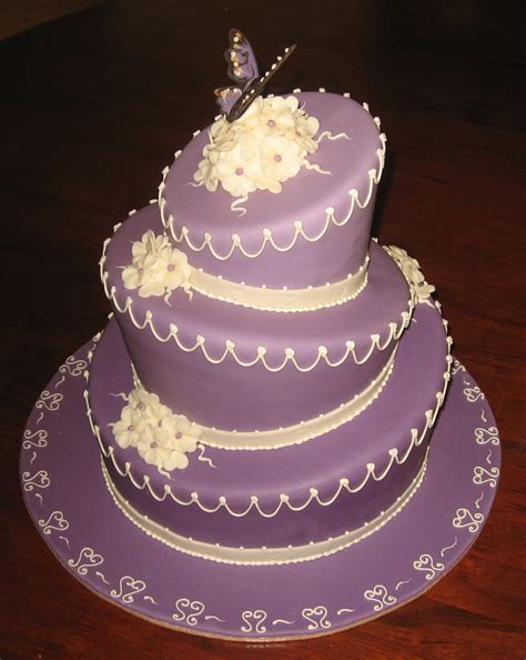 Wedding Cakes With Pictures On Them by Let Them Eat Cake Purple Wedding Cake