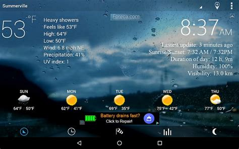 what s the best weather app for android looking for a weather clock app for zettaly stationary android tablet speaker android forums