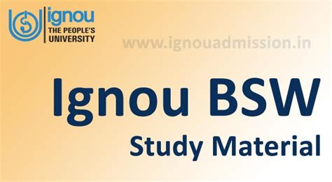 Ignou Mba Hr Study Material by Ignou Bsw Study Material Ignou Bsw Assignments Ignou