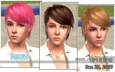 sims 3 custom hair color xm sims2 free sims 2 computer game hair new mesh download