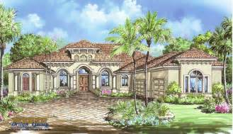 One Story Mediterranean House Plan Carlyle House Plan Weber