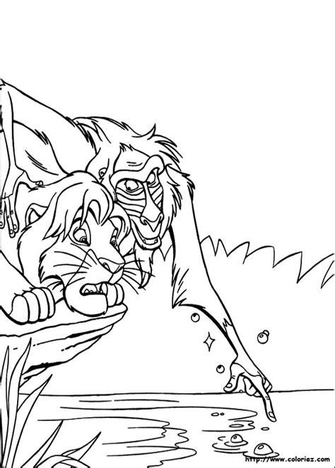 lion king broadway coloring pages coloriage rafiki le vieux sage