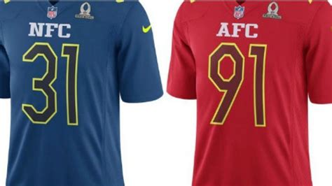 bowl jersey colors new pro bowl jerseys unveiled expect plenty of color in