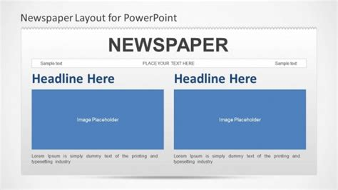 newspaper theme presentation newspaper powerpoint template slidemodel