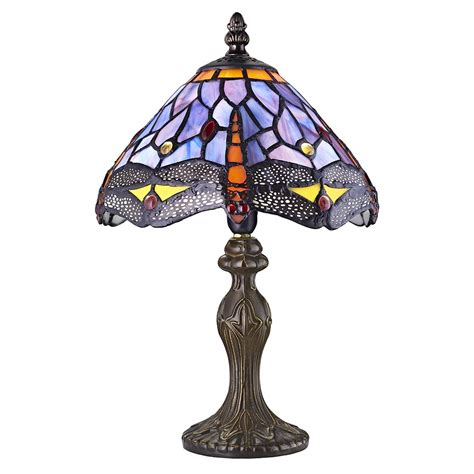 Stained Glass Purple crafted purple stained glass dragonfly l