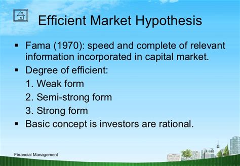 Theory Mba by Modern Finance Theory Ppt Mba