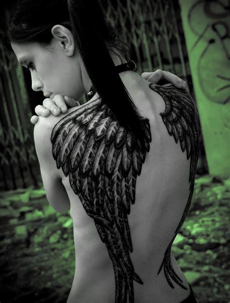 tattoo back angel wings angel wing tattoos for girls tattooic