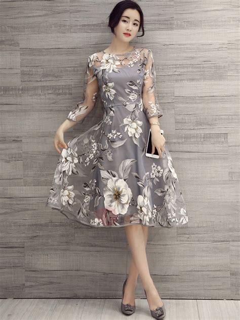 vestidos tres cuartos organza vestido de tres cuartos tidebuy