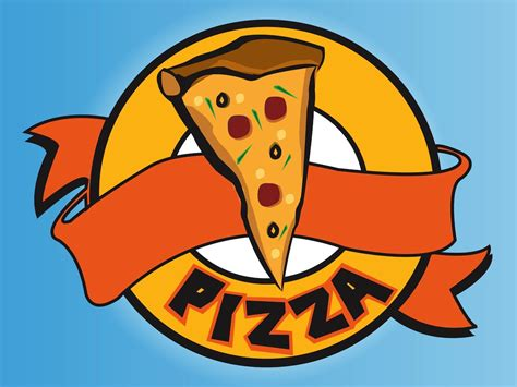 cartoon pizza logo