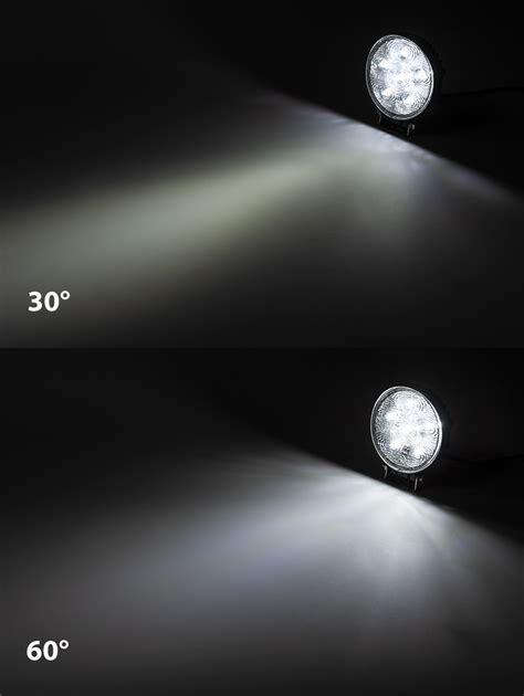 4 round led lights led boat light 4 5 quot round spreader light 18w marine