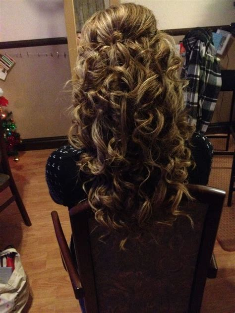 princess hairstyles noodle curls wedding hair curls half up half down princess hair