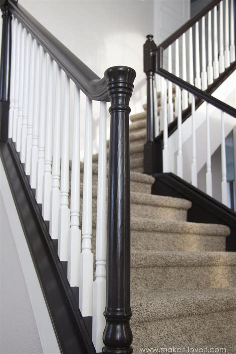 How To Paint Banister by Diy How To Stain And Paint An Oak Banister Spindles And