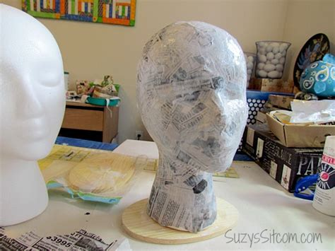 How To Make A Mannequin Out Of Paper Mache - diy flapper mannequin hat stand
