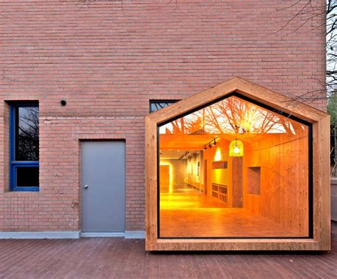 abandoned brick building renovated into house within a