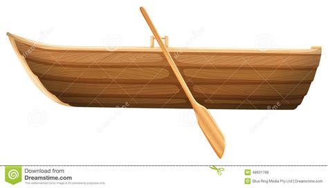 row boat graphic a wooden boat stock vector illustration of ship