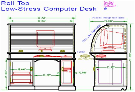 Roll Top Computer Desk Plans Woodwork Roll Top Desk Parts Pdf Plans