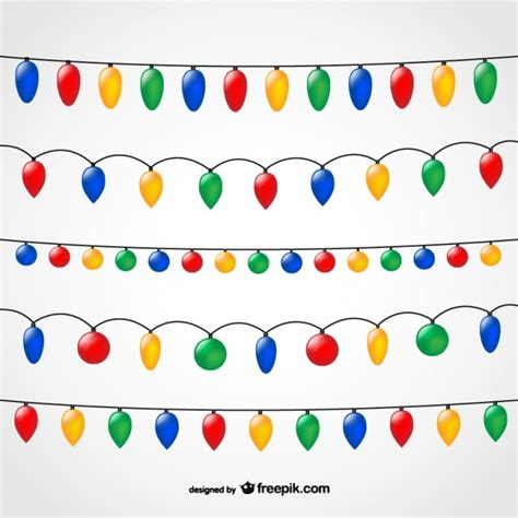 string of christmas lights vector free download
