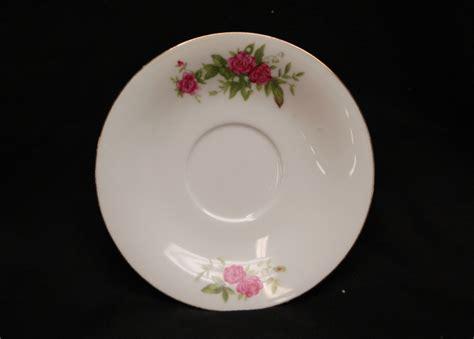 pink rose pattern china vintage white w pink rose pattern 6 quot saucer gold trim