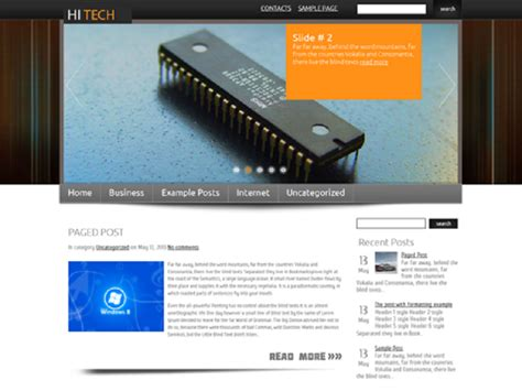 wordpress free hi tech themes free theme wordpress for hi tech