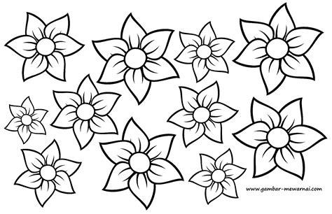 mewarnai gambar motif bunga contoh gambar mewarnai